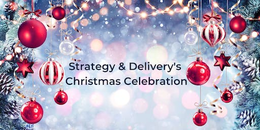 Strategy and Delivery's Christmas Celebration