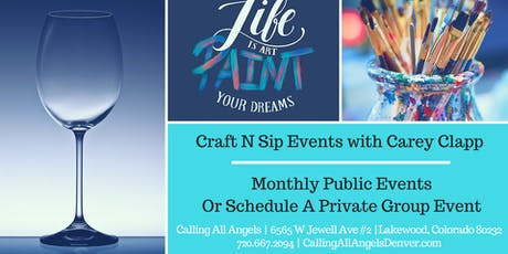 Craft & Sip with Carey Clapp! tickets