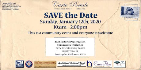 2020 Boyle Heights Historic Preservation Community Workshop tickets
