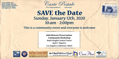 2020 Boyle Heights Historic Preservation Community Workshop tickets
