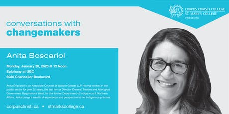 Conversations with Changemakers presents Anita Boscariol tickets