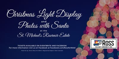 St. Michael's Reservoir: Light Display and Picture with Santa
