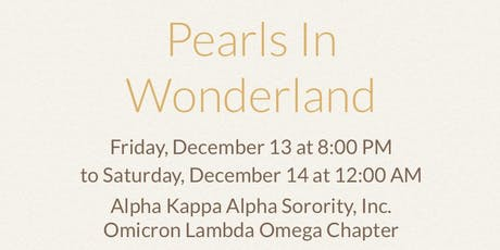 Pearls in Wonderland - Christmas Party 2019 tickets