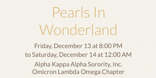 Pearls in Wonderland - Christmas Party 2019