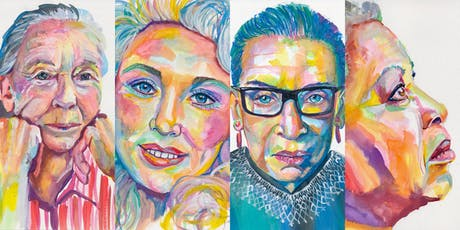 Art Art Party Party: Rad Women Portrait Painting Workshop Series w/ Rebecca Holopter tickets
