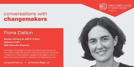 Conversations with Changemakers presents Fiona Dalton tickets