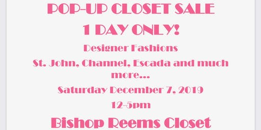 Bishop E. Reems Pop-Up Closet Sale