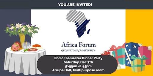 Africa Forum: End of Semester Dinner!