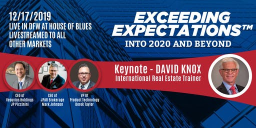 Exceeding Expectations™ - Into 2020 and Beyond December Rally!