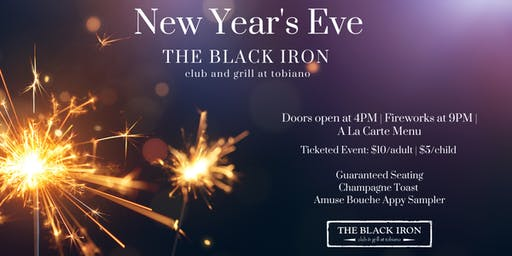 New Years Eve at The Black Iron Club and Grill at Tobiano