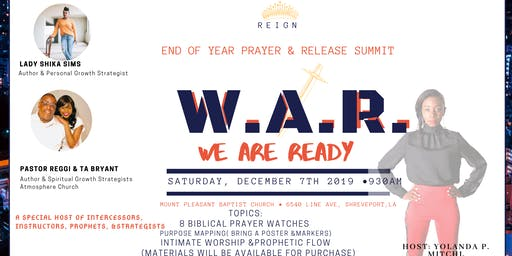 End of the Year Prayer & Release Summit