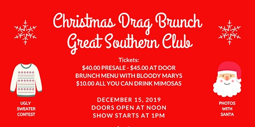Christmas Drag Brunch Great Southern Club