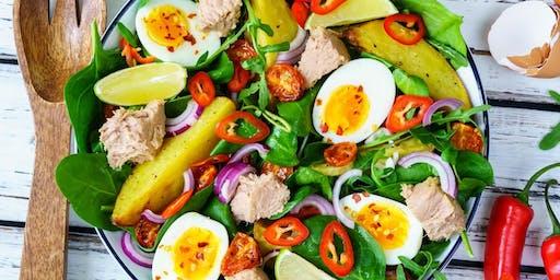 18/12 - SALADERIA – Saladas, molhos, proteínas e complementos 19h às 22h - R$ 190,00