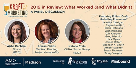 Craft Marketing - 2019 In Review: What Worked (and What Didn't) tickets