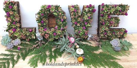 Holiday Succulent Workshop Vertical Letters & Shapes tickets