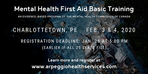 Mental Health First Aid Basic Training - Charlottetown, PE