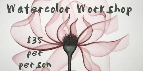 Watercolor Workshop - Transparent Flowers. Jersey City, NJ. tickets