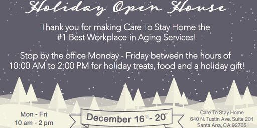Care To Stay Home Christmas Open House - Dec. 16th-20th