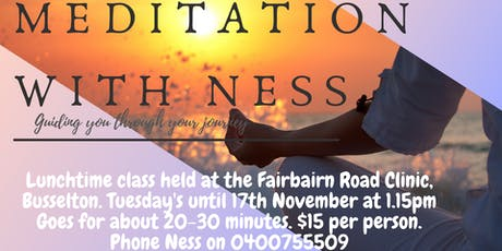 Lunchtime Meditation with Ness in Busselton tickets