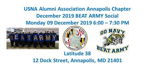 BEAT ARMY Social - USNA Alumni Association Annapolis Chapter 09 December