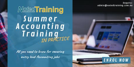 Your First Accounting Job in Australia-Summer Accounting Training Sessions tickets