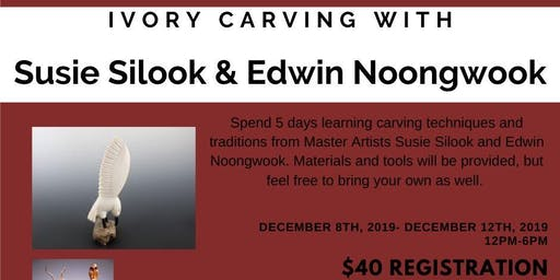 Ivory Carving with Susie Silook and Edwin Noongwook