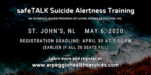safeTALK Suicide Alertness Training - St. John's, NL