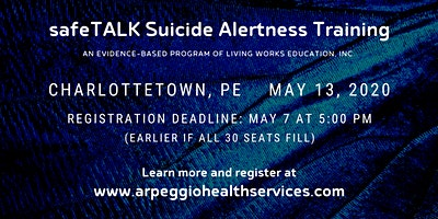 safeTALK Suicide Alertness Training - Charlottetown, PE