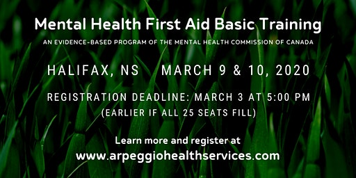Mental Health First Aid Basic Training - Halifax, NS
