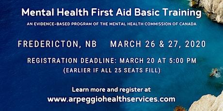 Mental Health First Aid Basic Training - Fredericton, NB tickets