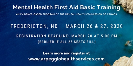 Mental Health First Aid Basic Training - Fredericton, NB
