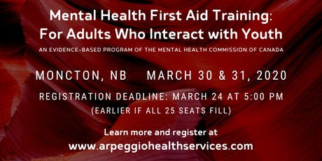 Mental Health First Aid Training: YOUTH - Moncton, NB tickets