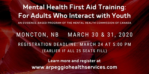 Mental Health First Aid Training: YOUTH - Moncton, NB