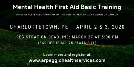 Mental Health First Aid Basic Training - Charlottetown, PE tickets