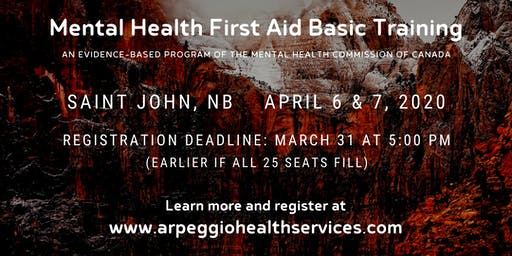 Mental Health First Aid Basic Training - Saint John, NB