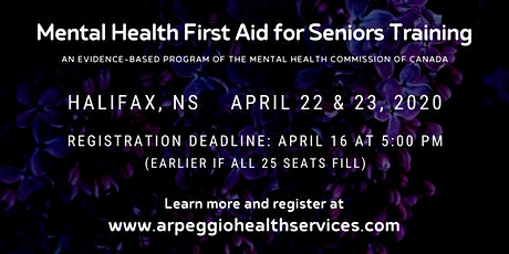 Mental Health First Aid Training: SENIORS - Halifax, NS tickets