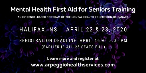 Mental Health First Aid Training: SENIORS - Halifax, NS