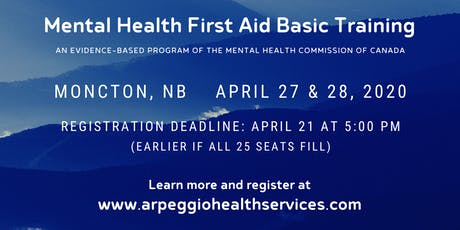 Mental Health First Aid Basic Training - Moncton, NB tickets