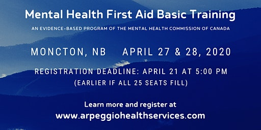 Mental Health First Aid Basic Training - Moncton, NB