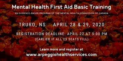 Mental Health First Aid Basic Training - Truro, NS