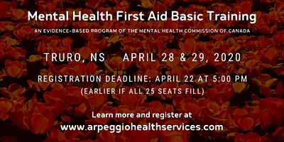 Mental Health First Aid Basic Training - Truro, NS