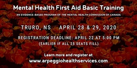 Mental Health First Aid Basic Training - Truro, NS tickets