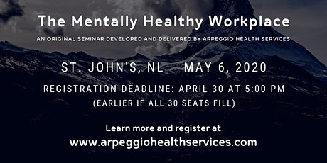 Seminar: The Mentally Healthy Workplace - St. John's, NL tickets