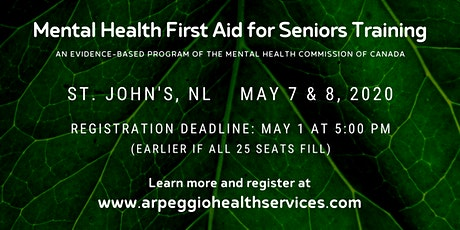 Mental Health First Aid Training: SENIORS - St. John's, NL tickets