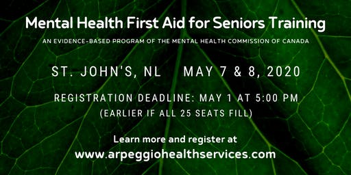 Mental Health First Aid Training: SENIORS - St. John's, NL