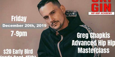 Greg Chapkis Urban Choreo Master Class tickets