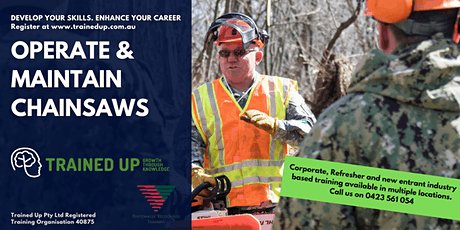 Operate Maintain Chainsaws | Master safety, cutting technique, maintenance tickets