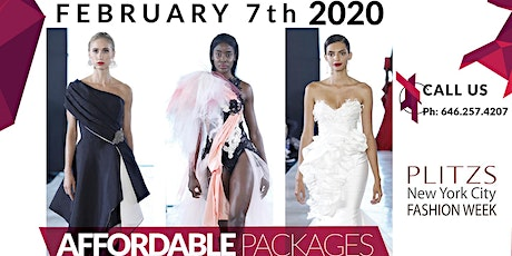 FASHION WEEK NY 60 LOOKS - $4,500 - FASHION DESIGNER PACKAGE (FEBRUARY NY FASHION WEEK SEASON) tickets