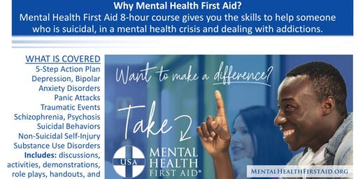 Mental Health First Aid Adult Certification Course