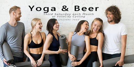 Downtown Pewaukee's Yoga & Beer Event
